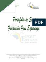 PORTAFOLIO SERVICIOS  FUNDACION PAIS ESPERANZA