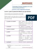 M2 L1. Lista de cotejo para una planeación estructurada