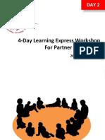 Training Workshop [Partner] Day 2, 26-29 July 2016