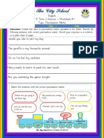 Class 1 English Video Lesson on Punctuation Marks Worksheet 1