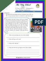 Class 1 English Worksheet 2 Week 6 Term 2 Revision