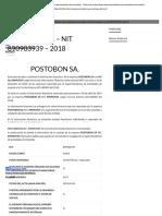 POSTOBON SA - NIT 890903939 - 2018 - Empresas Colombia