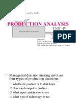 UNIT-IV PRODUCTION ANALYSIS