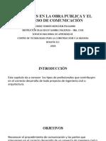 LAS PARTES EN LA OBRA PUBLICA Y EL PROCESO DE COMUNICACION