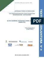 BRUNO, R. Elites agrárias, patronato rural e bancada ruralista.2015.