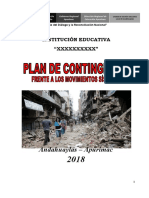 Plan de Contingencia frente a Sismos