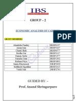 ECONOMIC ANALYSIS OF CADBURY ASSIGNMENT