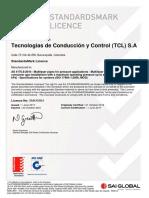 Certificado tuberia pealpe 2021