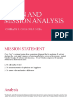 VISION AND MISSION ANALYSIS