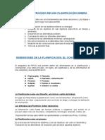 ETAPAS DEL PROCESO DE UNA PLANIFICACIÓN MINERA
