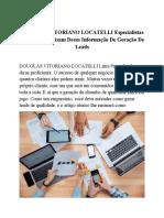 DOUGLAS VITORIANO LOCATELLI Especialistas E Novatos Precisam Dessa Informação de Geração de Leads