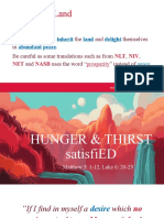 HUNGER AND THIRST
