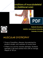 Pathological conditions of musculoskeletal system