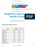 Specific Gravity Weights Of Materials from READE