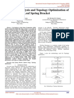 Structural Analysis and Topology Optimization of Leaf Spring Bracket