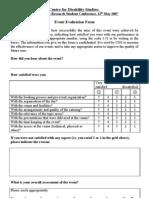 Event Evaluation Form