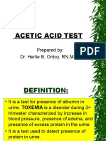 Acetic and Benedicts Test