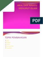 Akal Dan Wahyu Menurut Islam