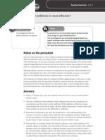 EdexcelA2Biology_Practical63_MostEffectiveAntibiotic_TeacherNotes