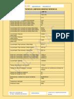 Especificaciones Tecnicas 4A_25000  LAMPARAS