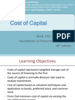 Session 13 - IBF - Fall 2017 - Cost of Capital
