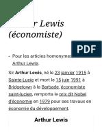 Arthur Lewis (économiste) — Wikipédia
