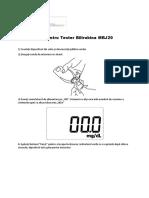 Instructiuni pentru Tester Bilirubina MBJ20