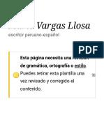 Mario Vargas Llosa Frases célebres
