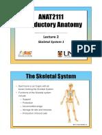 ANAT2111 - Lecture 2 - Skeletal System 1.pdf