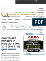 Awards and Honours In India 2018 2017 2016 [Full List]