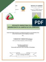 Projet Tutoré - Éfficacité Énergétique Du Bloc Administratif IUC 2020