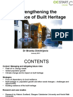 Strengthening the Resilience of Built Heritage