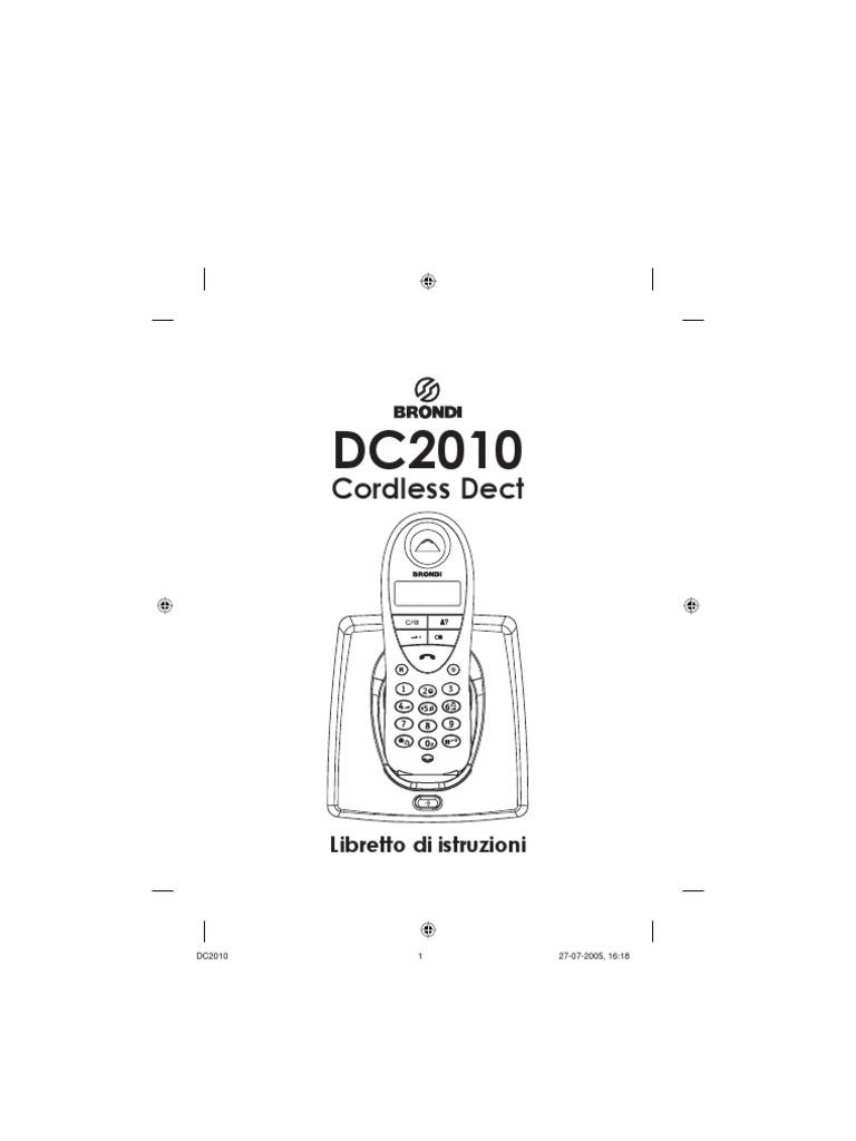 DC2010 phone manual