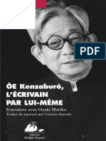 Oe Kenzaburo, l'Ecrivain Par Lu - Oe, Kenzaburo