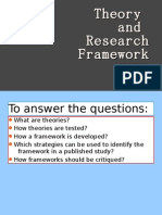Theory and Research Frameworks