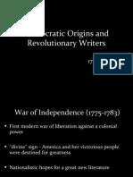 3 - Democratic Origins and Revolutionary Writers.ppt