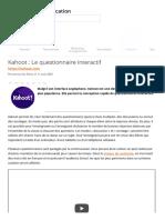Kahoot _ Le questionnaire interactif _ Carrefour éducation