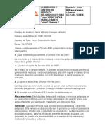 SUPERVISION Y GESTION DE RESIDUOS PELIGROSOS