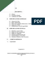 ESPECIFICACIONES MERCADO DE CHACAO
