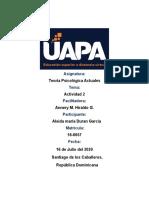 Tartea 2 teorias psicologicas actuales - Aleida Duran.docx