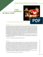 Nutriçao funcional para população de baixa renda