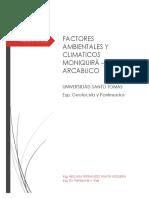 ESTIMACIÒN DE FACTOR CLIMA MONIQUIRA - ARCABUCO
