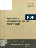 Requirements for weather proofing thin shell concrete roofs
