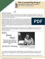 David Bamberg - Don't Blame Magic.pdf