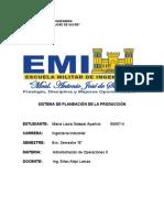 ADMINISTRACION DE OP II-SISTEMA DE PLANEACION DE PRODUCCIÓN