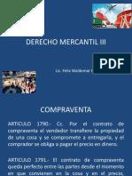 PRESENTCIÓN CLASE 02 DERECHO MERCANTIL III, COMPRAVENTA MERCANTIL.pptx