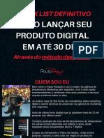Check lis definitivo para lançar em até 30 dias - Paulo Ponquio