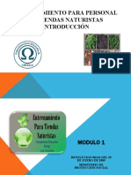 ENTRENAMIENTO PARA PERSONAL DE TIENDAS NATURISTAS - introducción