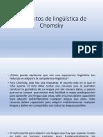 Lenguaje y Lingüística de Chomsky