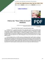 12 pedras das tribos de juda